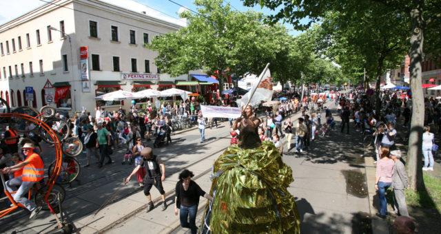 Zweite Ausgabe des Straßenfest BoHei & Tamtam im Leipziger Westen