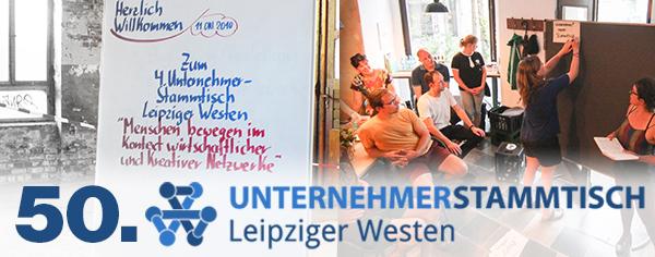 Save the date! Wir feiern den 50. Unternehmerstammtisch Leipziger Westen